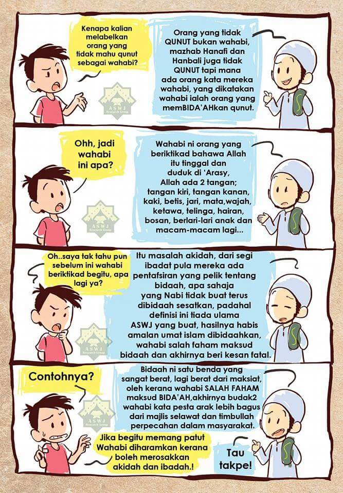 Berita Celaghu Karikatur Siapakah Wahabi